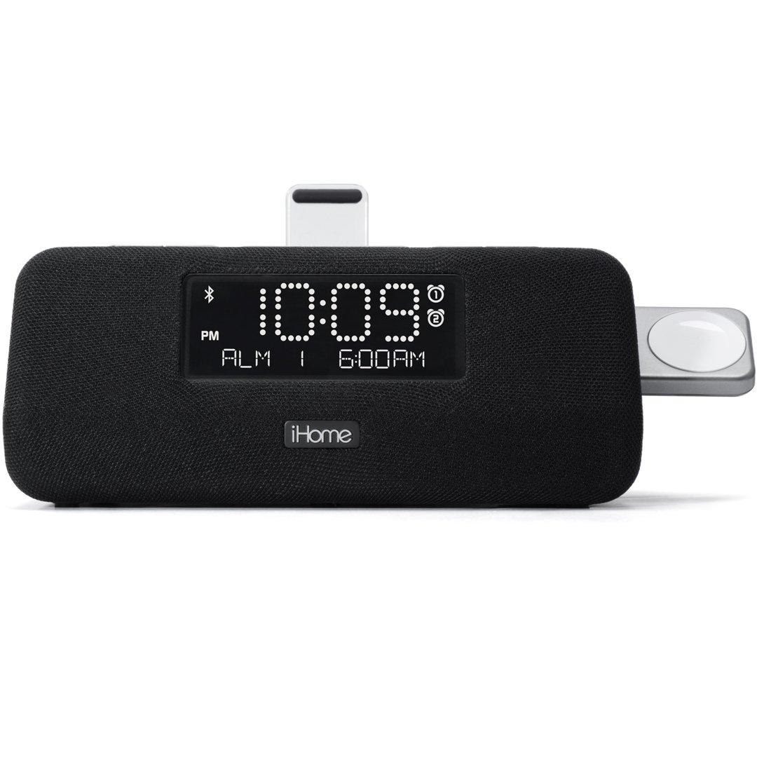 iHome iPLWBT5 Docking Clock Radio + Watch Charger