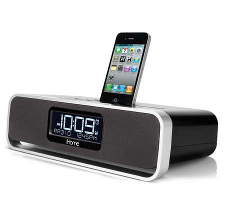 ihome ia91 app enhanced dual alarm stereo clock radio for your iphone ipod with am fm presets. Black Bedroom Furniture Sets. Home Design Ideas