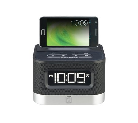 android alarm clock charge and play your android smartphone. Black Bedroom Furniture Sets. Home Design Ideas