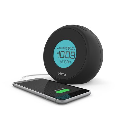 ihome ibt18 dual alarm clock with bluetooth speakerphone usb charging. Black Bedroom Furniture Sets. Home Design Ideas