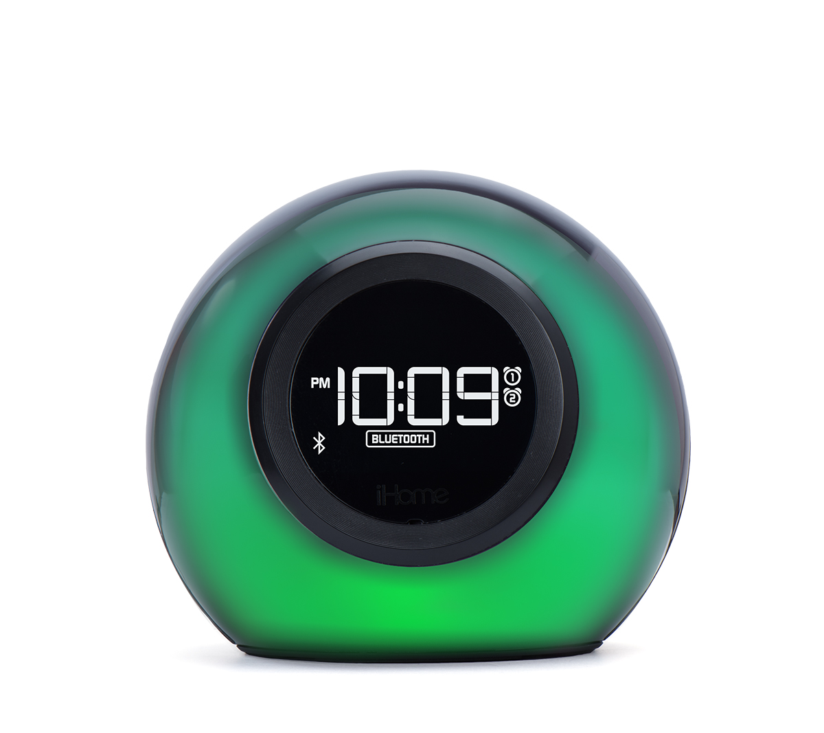 iHome iBT29BC Bluetooth Color Changing Dual Alarm Clock FM Radio with USB