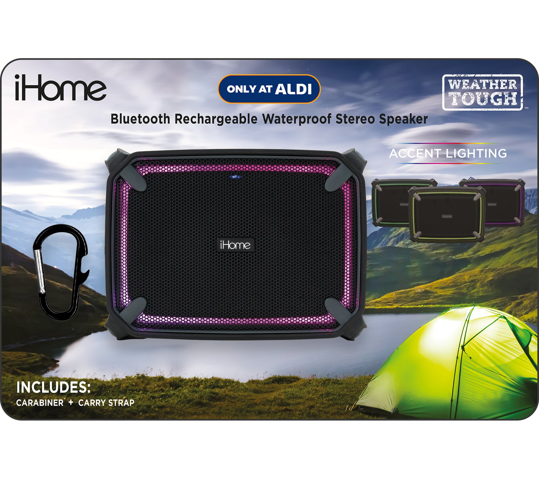 iHome iBT10 ALDI EXCLUSIVE- Weather Tough™ Bluetooth Speaker
