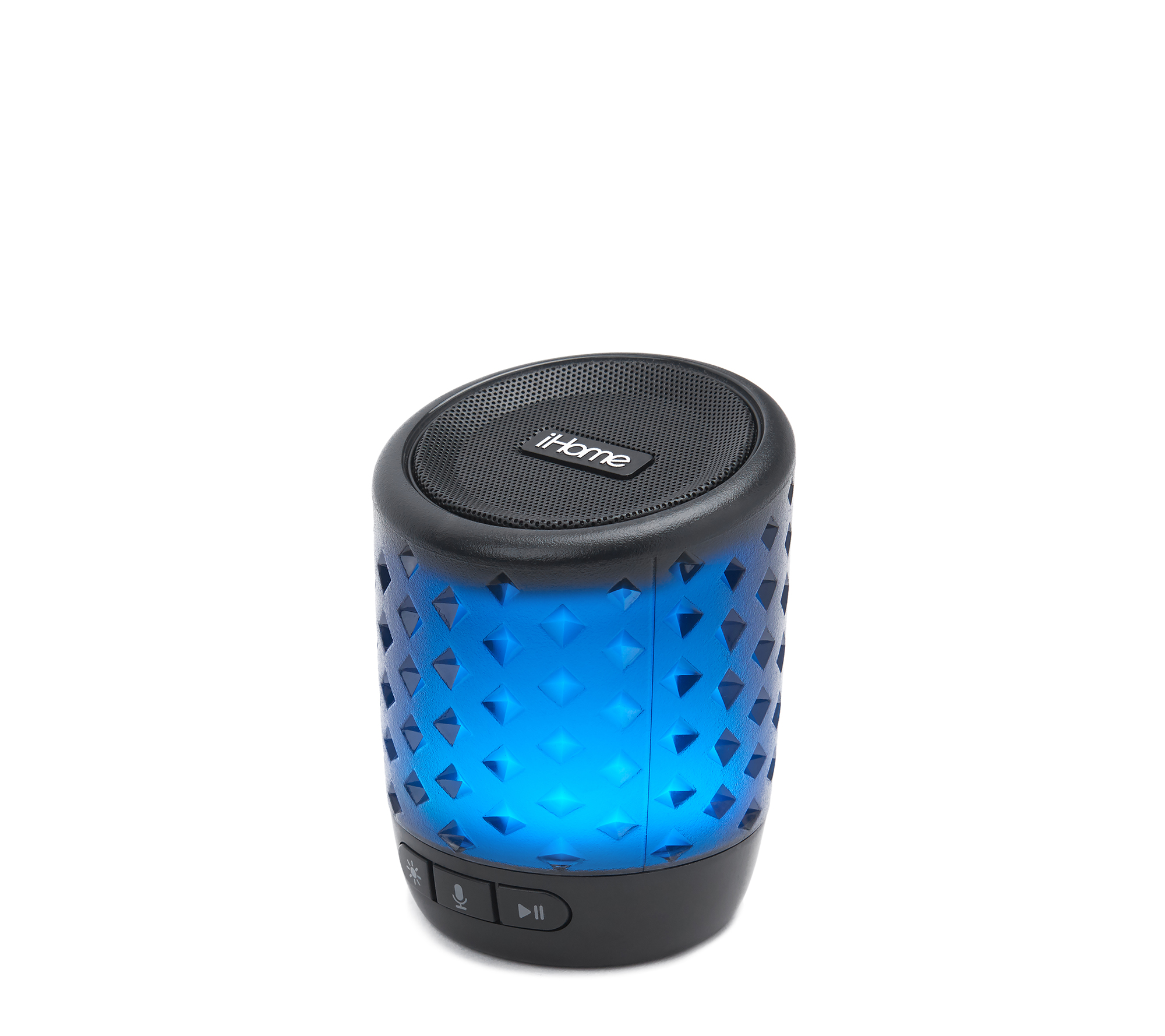 iHome Color Changing Rechargeable Bluetooth Speaker with Siri,Google Assistant /& Melody Voice Control