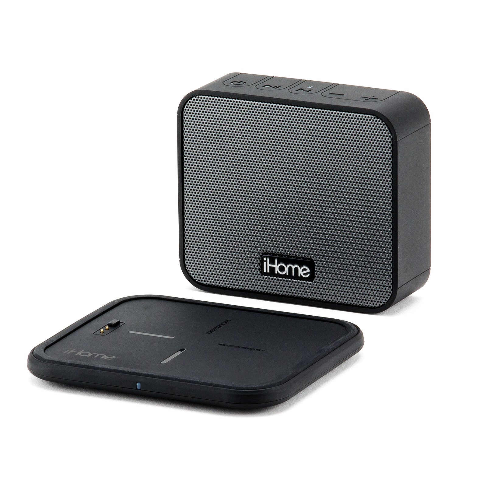 Ihome Portable Bluetooth Speaker With Wireless Charging Pad
