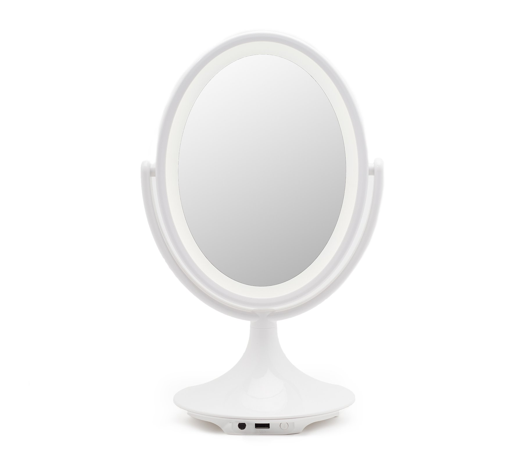 Ihome Icvbt6 6 Quot Double Sided Vanity Mirror With Bluetooth