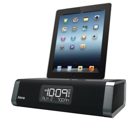 ihome id45 app enhanced dual alarm stereo clock radio for ipad iphone ipod wi. Black Bedroom Furniture Sets. Home Design Ideas
