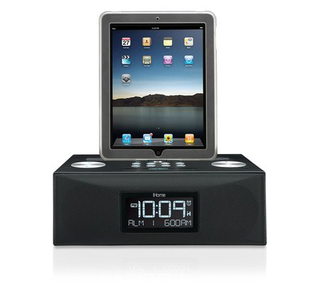 ihome id84 app enhanced dual alarm stereo clock radio for your ipad iphone ipod with am fm presets. Black Bedroom Furniture Sets. Home Design Ideas