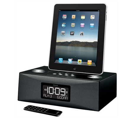 ihome id85 app enhanced dual alarm clock radio for your ipad iphone ipod with am fm presets. Black Bedroom Furniture Sets. Home Design Ideas