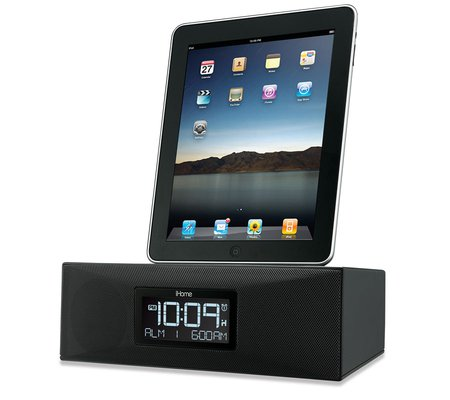 ihome id85 app enhanced dual alarm clock radio for your ipad iphone ipod with. Black Bedroom Furniture Sets. Home Design Ideas