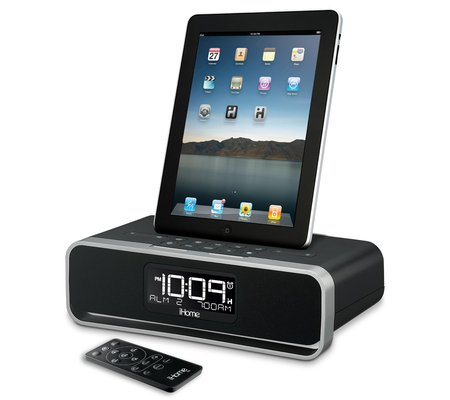 iHome iD91 App-enhanced Dual Alarm Stereo Clock Radio for