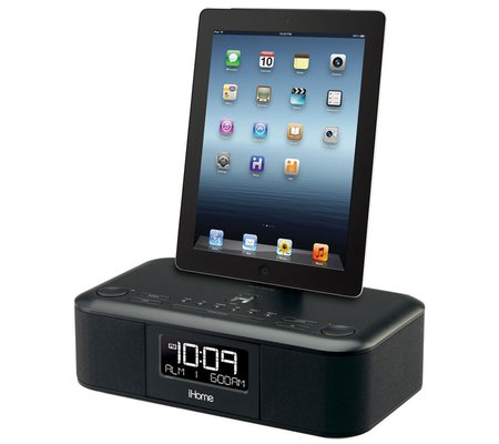 ihome id95 app enhanced dual alarm stereo clock radio for your iphone ipod with fm presets. Black Bedroom Furniture Sets. Home Design Ideas