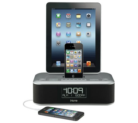 ihome for iphone 5 ihome id99 app enhanced charge dual alarm stereo fm 4486
