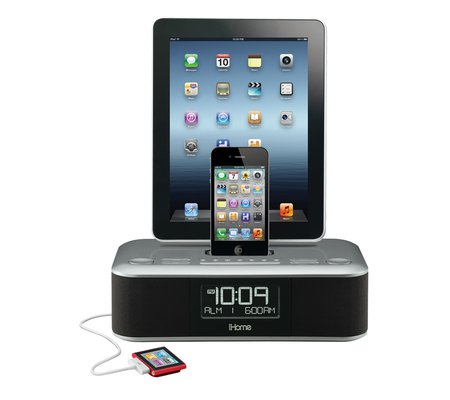ihome id99 app enhanced triple charge dual alarm stereo fm clock radio for your ipad iphone ipod. Black Bedroom Furniture Sets. Home Design Ideas