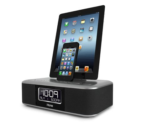 ihome idl100 triple charging stereo fm clock radio with two lightning docks and usb charge play. Black Bedroom Furniture Sets. Home Design Ideas