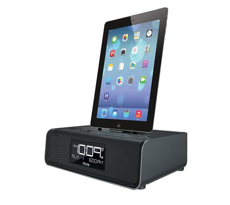 ihome idl43 dual charging stereo fm clock radio with lightning dock