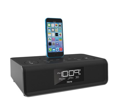 ihome idl43 dual charging stereo fm clock radio with lightning dock and usb charge play for ipad. Black Bedroom Furniture Sets. Home Design Ideas