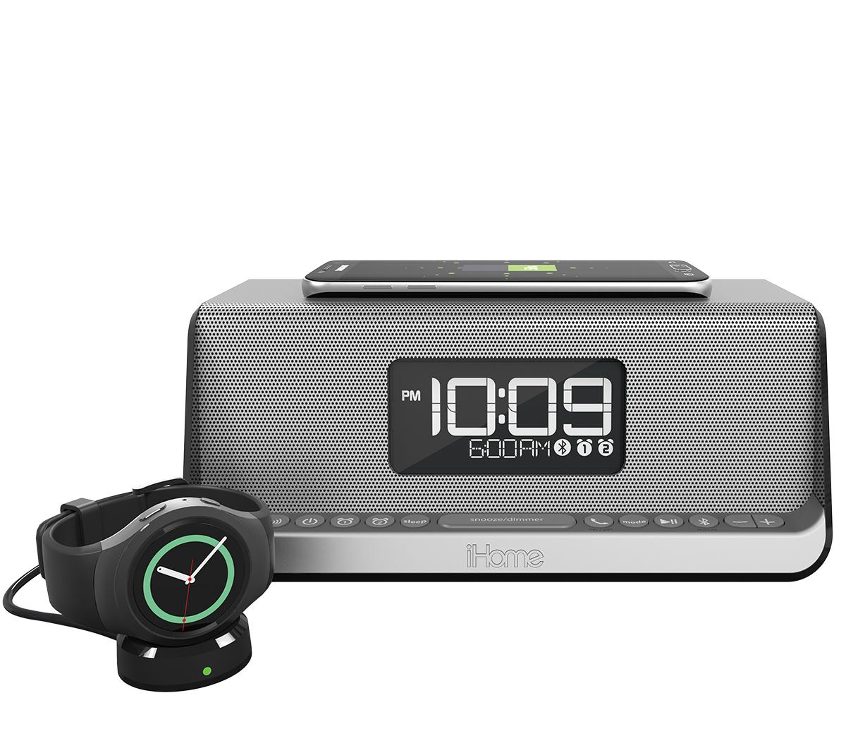 IHome  Bluetooth Stereo Speakerphone NFC Dual Alarm Clock Wireless USB Charging