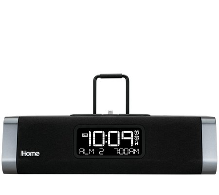 ihome idl45 dual charging stereo fm clock radio with lightning dock and usb charge play for ipad. Black Bedroom Furniture Sets. Home Design Ideas