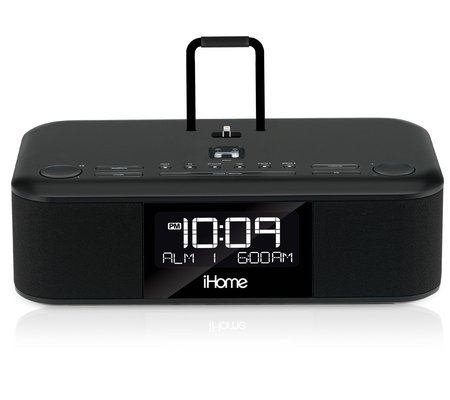 ihome idl95 dual charging stereo fm clock radio with lightning dock and usb charge play for ipad. Black Bedroom Furniture Sets. Home Design Ideas