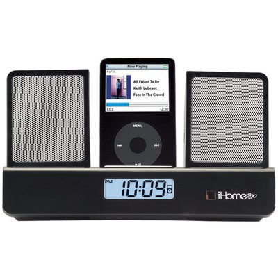 ihome ih26 portable speakers with alarm clock for ipod rh ihomeaudio com