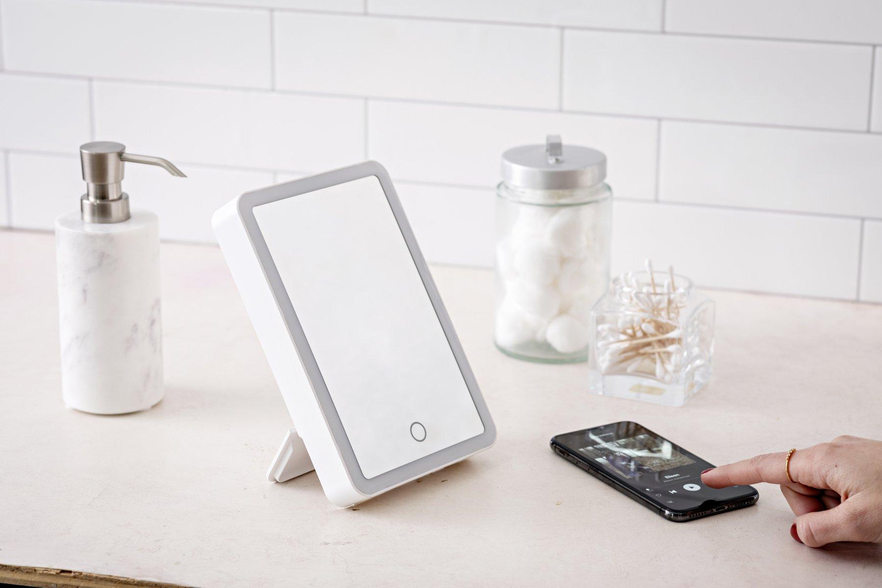 Ihome Portable Icvbt1 Portable Lighted Bluetooth Vanity Mirror