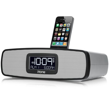 ihome ip90 dual alarm clock radio for your iphone ipod with am fm presets. Black Bedroom Furniture Sets. Home Design Ideas