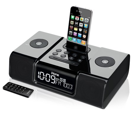 ihome ip9 clock radio audio system for iphone ipod rh ihomeaudio com Pink iHome for iPod iHome Docks with Remotes