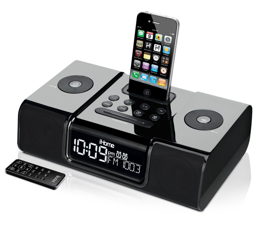 ihome ip9 clock radio audio system for iphone ipod rh ihomeaudio com iHome iPod Docking Station Manual iHome iH8 User Manual