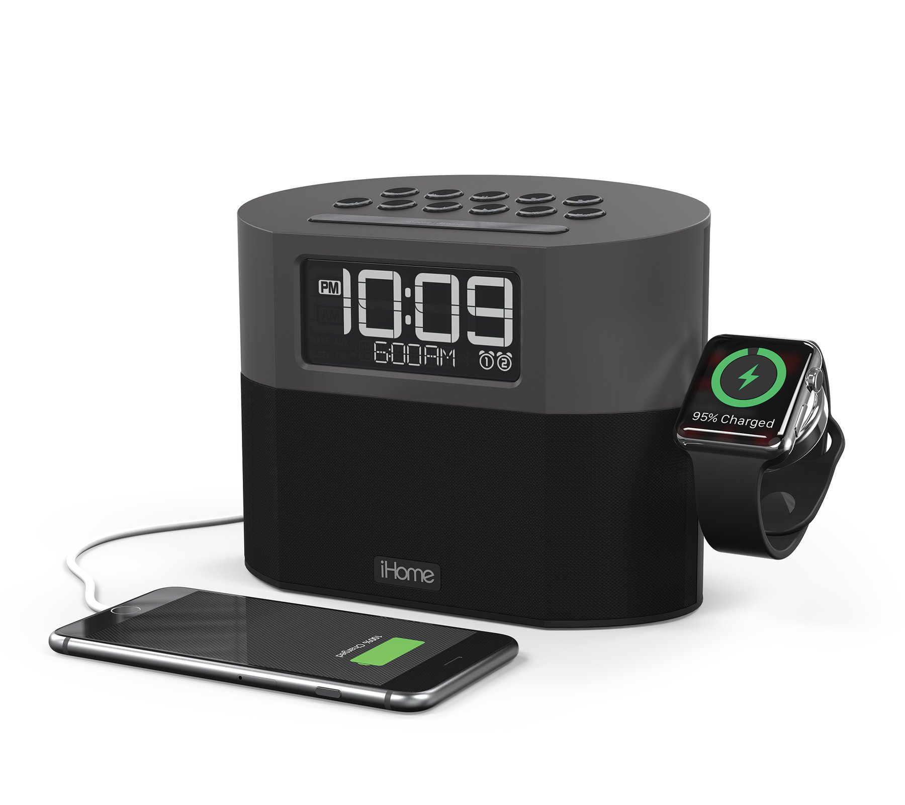 iHome iWBT400 Bluetooth Clock Radio + USB Charging + Apple