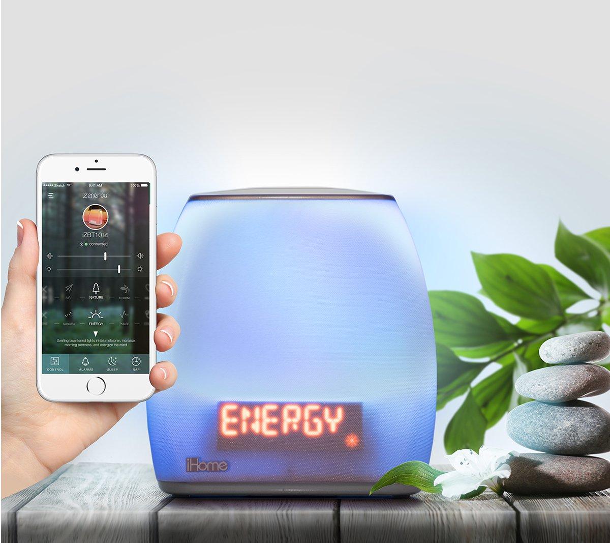 iHome Zenergy - Bedside Sleep Therapy Speaker - iZBT10