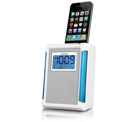 ihome ip40 fm alarm clock radio for iphone or ipod rh ihomeaudio com