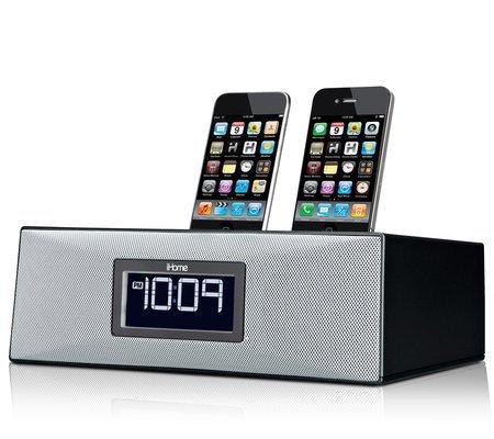 iHome iP88 Dual Dock Clock Radio & Audio System for iPhone