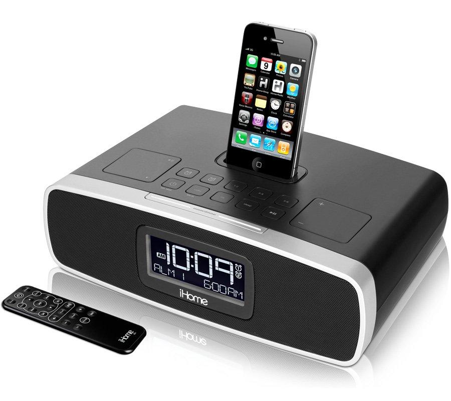 ihome ip90 dual alarm clock radio for your iphone ipod. Black Bedroom Furniture Sets. Home Design Ideas